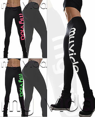 Leggings donna leggins pantaloni fitness sport P07