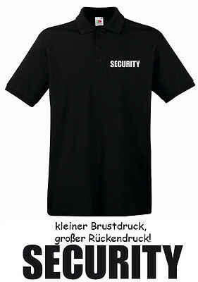 10 Stck. SECURITY - Polo-Shirt, schwarz, Gr. S - XXXL