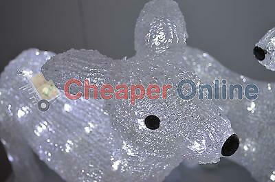 43cm Acrylic Reindeer Christmas Decoration with 48 LED Cool White Lights