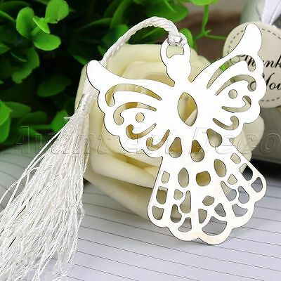 Silver Colour Guardian ANGEL Theme Bookmark Wedding Party Xmas Gift Stationary