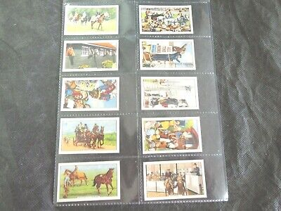 1938 Racing Scenes Horses Epsom Gallaher Complete Tobacco Card Set of 48 vintage