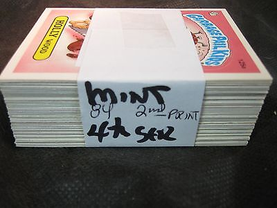 1986 86 Garbage Pail Kids GPK USA Series 4 four 2nd print Set  84 cards Mint!