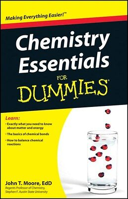 Chemistry Essentials For Dummies 9780470618363 by John Thomas Moore, Paperback