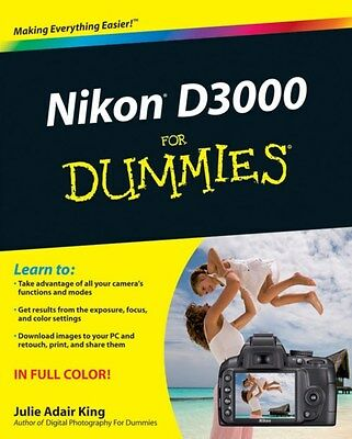 Nikon D3000 For Dummies 9780470578940 by Julie Adair King, Paperback, BRAND NEW
