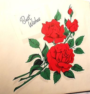 Vintage ROSES Gift Wrapping Paper;Section 20X29,NEW From Old Stock,Free Shipping