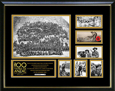 Anzacs 100 Years Limited Edition Signed Framed Memorabilia