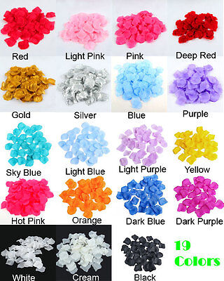 1000 Luxury Silk Rose Petals For Party Engagement Wedding Birthday Decorations