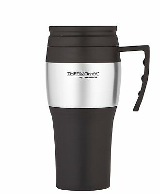 Thermos Thermocafe 2010 Steel Travel Mug 400ml Spill Proof Insulated Hot Drink