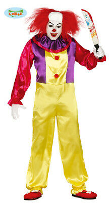 GUIRCA Costume IT pagliaccio assassino halloween carnevale adulto mod. 84317