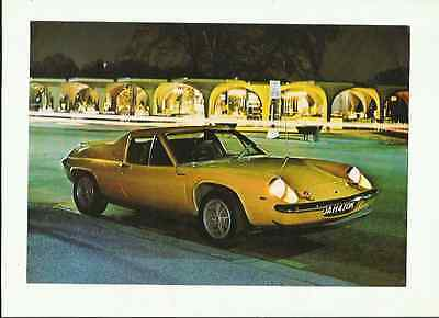 LOTUS EUROPA TWIN CAM SALES' BROCHURE'/SHEET  EARLY 70's