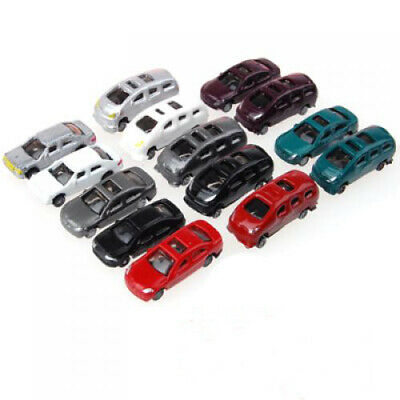 100pcs Mix Model Toy Cars for Buildings Scenery Layout Landscape 1:200 N/Z Scale