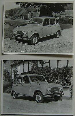 Renault 4 Two Press Photographs from early 1967