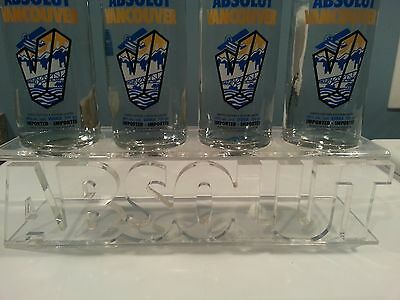 4 Bottle Absolut Vodka Acrylic Display Stand Glorifier - Not Vancouver Gustafson
