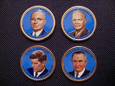 Colorized Head Only 2007-2013 Colorized Set Of President Dollar Coins P Mint