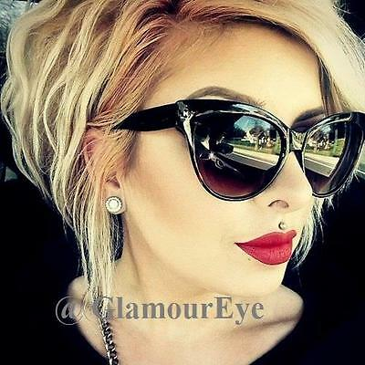 a677673dc9 Large Cat Eye Rockabilly WaYfe Fashion Mohotani PinUP Big Women Sunglasses  018 L