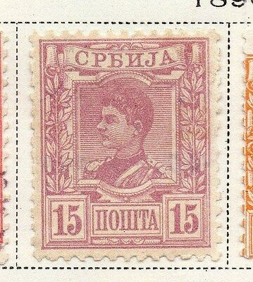 Serbia 1890 Early Issue Fine Mint Hinged 15p. 008250
