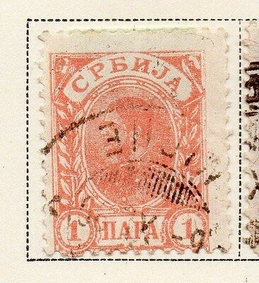 Serbia 1894-1900 Early Issue Fine Used 1p. 008253