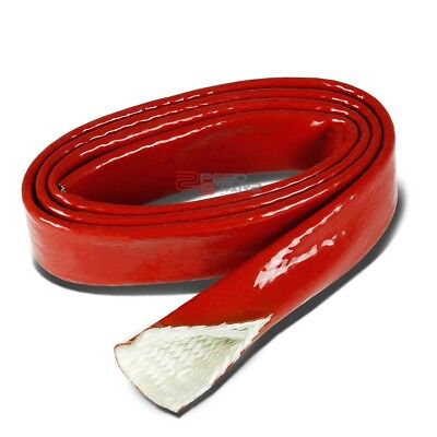 """5//8/"""" Inch//15MM Fire Sleeve Red Temp Silicone Braided Insulation Hose x 1 Feet"""