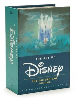 Art of Disney: The Golden Age (1937-1961) 9781452122298, Postcard, BRAND NEW