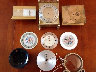 Vintage Clock Parts Incl Metamec Electric CSM Scotland Restoration Parts