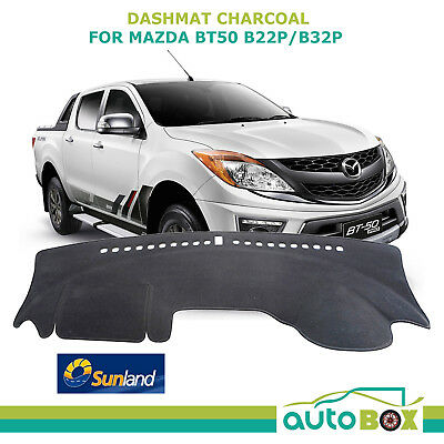 DashMat for Mazda BT50 2011-current Charcoal  Sunland Dash Mat Protection B22 32