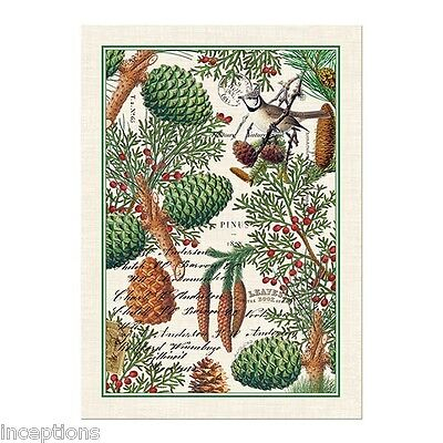 Michel Design Works Cotton Kitchen Tea Towel Holiday Christmas Spruce - NEW