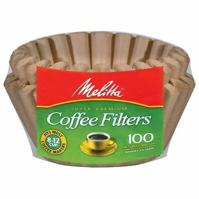 Natural Brown Unbleached Basket Coffee Filters by Melitta 629092