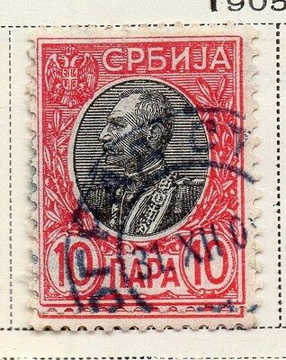 Serbia 1905-08 Early Issue Fine Used 10p. 008281