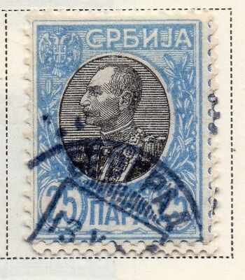 Serbia 1905-08 Early Issue Fine Used 25p. 008284