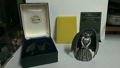 "DISNEY'S VILLIAN COLLECTION CHERNABOG 3"" PEWTER FIGURINE W/BOX & CERTIFICATE"