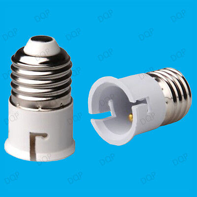 Edison Screw ES E27 To Bayonet BC B22 Light Bulb Adaptor Lamp Converter Holder