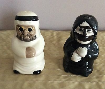 Collectable Vintage UAE Man & Woman In Traditional Dress Salt And Pepper Shakers
