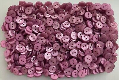 Small 11mm 18L Red Pearlescent Polished 4 Hole Buttons Various Packs Z3