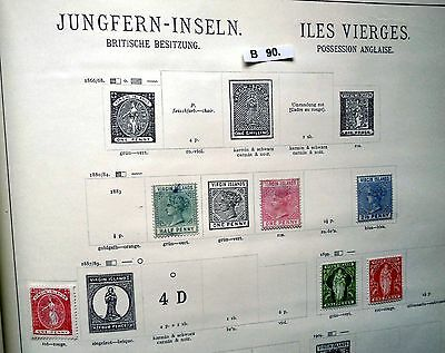 kleine Briefmarkensammlung Jungferninseln Virgin Islands