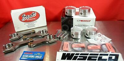 Wiseco Forged 86.5MM PISTONS 9:1 SCAT 4340 H BEAM RODS For Nissan SR20 S13 S14