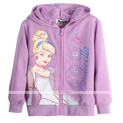 New Autumn Hooded Jacket Coat Hoodies Clothes For Toddler Baby Girl Chidren 2-7Y