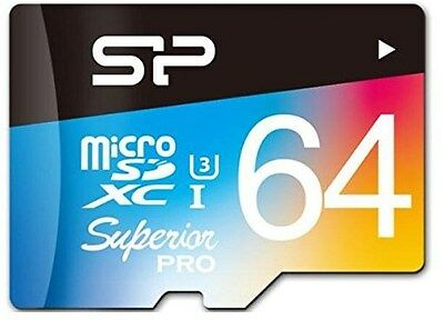 Silicon Power 64GB Superior Pro UHS-3 microSD Card (inc. SD Adapter)[SP064GBS..