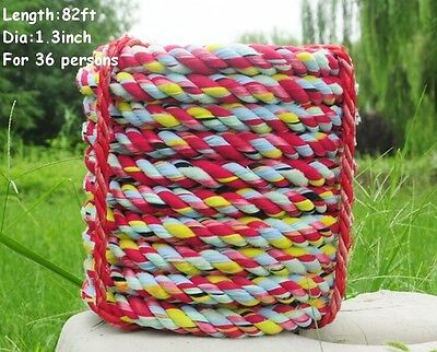 82 feet(25m)Tug Of War Rope Outdoor Sport for 36 Children Team Work
