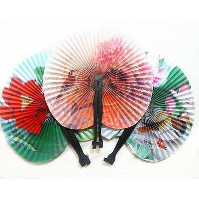 Stylish Chinese Classic Children Folding Small Round Paper Fan Toy Festival Gift
