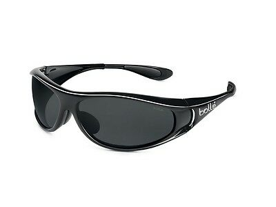 Bolle Spiral Sunglasses (Polarized Smoke Lens Shiny Black Frame)