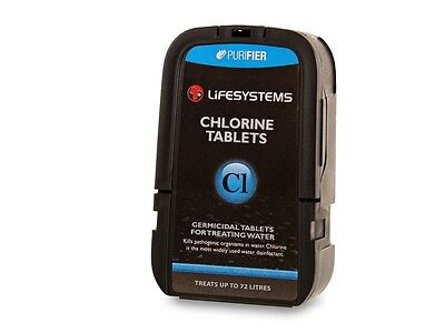 Lifesystems Chlorine Tablets For Water Purification (Pack Of 72)