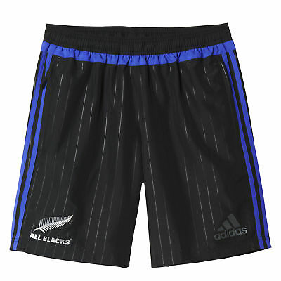 adidas Mens All Blacks Rugby Woven Training Shorts Bottoms Trousers Pants Black