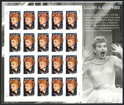 3523 Lucille Ball Sheet With Inverted Die Cuts - Major Error  Unique Stuart Katz