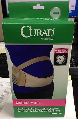 Curad Maternity Belly Pregnancy Support Belt,Size 4-14-Medium - New