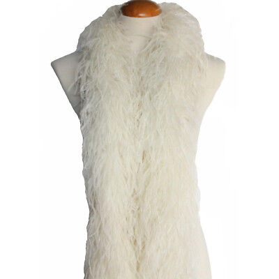 """4 plys 72"""" Ivory Ostrich Feather Boa, High Quality Cynthia's Feathers New"""