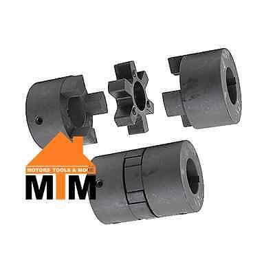 "075 Jaw Coupling 12mm 14mm 16mm 18mm 19mm 20mm 22mm 3/8"" 1/2"" 5/8"" 3/4"" 7/8"""