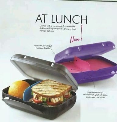 1 X Brand New Tupperware At Lunch - Lunch Box -With Foldable Divider - PURPLE