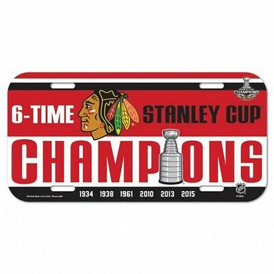 Chicago Blackhawks 2015 Stanley Cup Champions NHL Collectors Number Plate