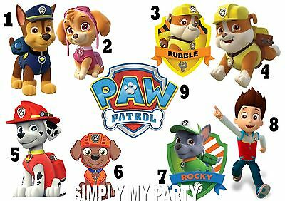Iron On Transfer - Paw Patrol Chase Skye Ryder - For Any Color T-Shirt