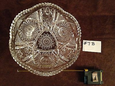 American Brilliant Cut Glass Bowl #7B